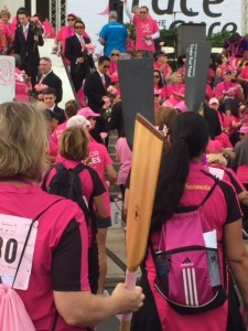 Pinks at rear guard in the Survivors Parade